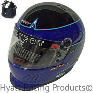 Find Pyrotect Pro Airflow Duckbill Auto Racing Helmet SA2015 - Blue Rebel Graphic motorcycle in Bend, Oregon, United States, for US $499.00