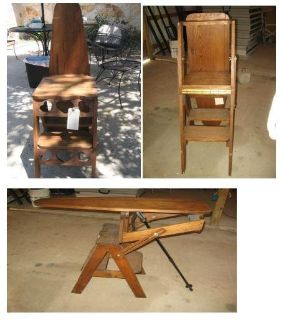 Vintage 3-Way Wooden Bachelor Chair