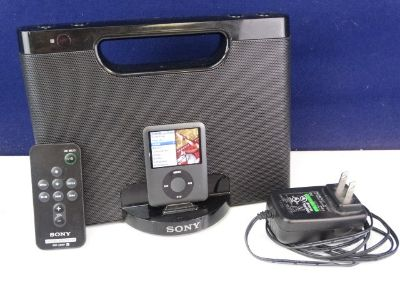 8GB iPod with Sony Docking Speaker System & Remote
