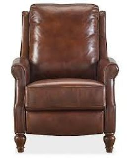 Reg. $1099 - Sale Price $399 - Leeah Leather Pushback Recliner
