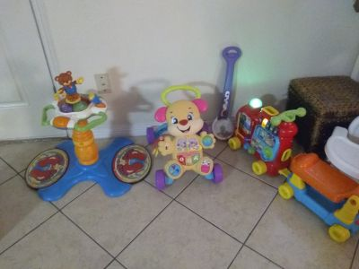Toys and bouncer