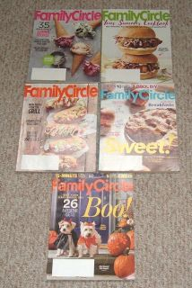 Family Circle Magazine Lot of 5 2016 June - Oct