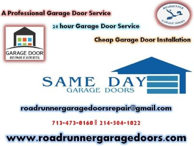 Garage Door Repair Houston, TX | Openers & Springs | (713-473-8168)