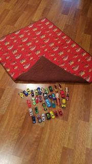 Homemade Cars blanket/play mat and cars