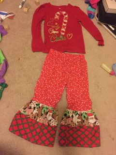 Cute outfit. Top 4t pants is like 3.
