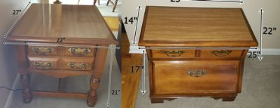 Set of end tables