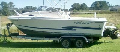 20ft Proline Cabin Boat & Trailer