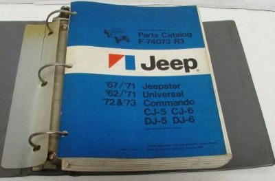 Buy Jeep Parts Book & Illustr Sup 67-71 Jeepster 62-71 Universal 72-73 CJ-5 CJ-6 DJ motorcycle in Holts Summit, Missouri, United States, for US $149.95