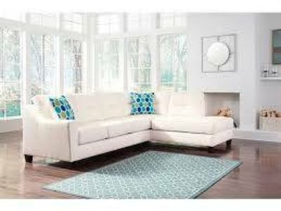 NUVELLA WHITE SECTIONAL