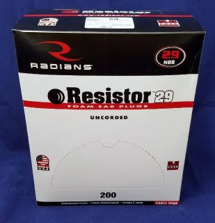 Disposable Earplugs - Radians FP60 Resistor [200/box]