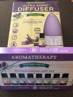 Brand new in box air diffuser and oils