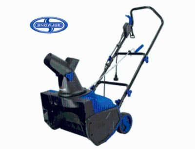 Snow joe 18 inch electric snow blower with12 amp motor