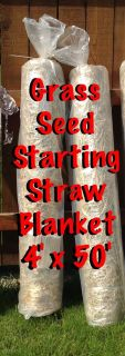 EZ straw grass seed blankets- 2 available