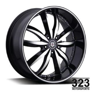"Purchase 20"" INCH WHEELS RIMS SEVIZIA 427 BLACK MACHINE 5 LUG MONTE CARLO 300C SRT8 ASPEN motorcycle in Los Angeles, California, US, for US $629.00"