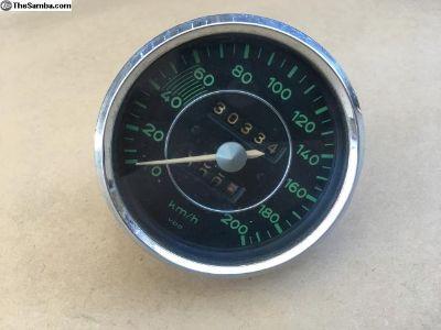 Porsche 356 Speedometer 200 km/h date stamped 3/58