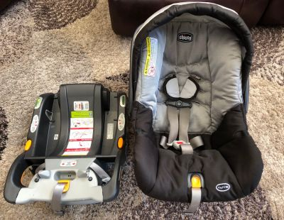 Chicco Key Fit Infant Car seat and TWO Bases