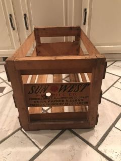 Wooden crate- 24 x 13
