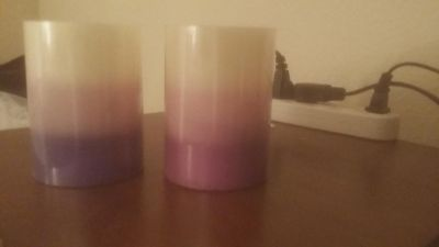 Blue ombre LED candles