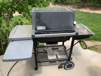 Weber gas grill with cover