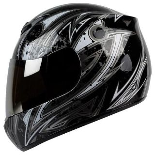 Buy Size S M L XL XXL ~ PGR AR01 ARPIA Black Silver Motorcycle Full Face DOT Helmet motorcycle in Chino, California, US, for US $14.99