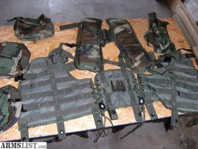 For Sale: Tactical vest and vest pac combo