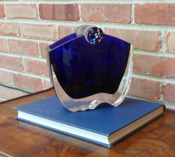 Baccarat Cobalt Blue French Crystal Vase