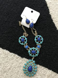 Charming charley necklace and earrings