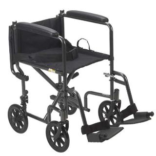 Drive Lightweight Steel Transport Wheelchair 17""
