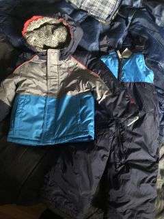24 months zero xposure winter coat and snow pants. Never worn by my son. Awesome set!
