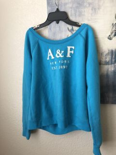 Abercrombie and Fitch blue sweatshirt