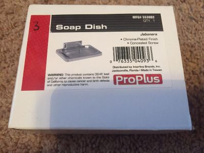 Proplus soap fish - chrome placed finish / concealed screw