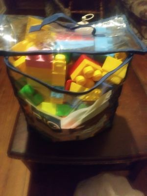 Big bag full of mega blocks.