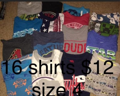 Boys clothes lots, prices on pictures