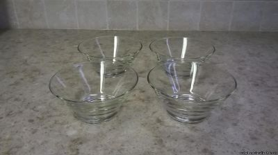 CLEAR GLASS DESSERT/SALAD/SNACK BOWLS