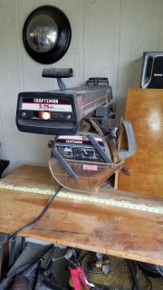 """10"""" Radio arm saw 120 or 240 volt with portable stand"""