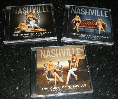 3 CD's The Music Of Nashville TV Show Soundtrack Lot Season 1 & 2 Connie Britton