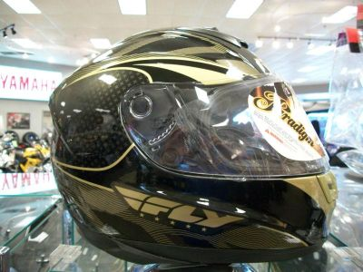 Buy Fly Paradigm Black/Gold Helmet Large Fly Paradigm Motorcycle Helmet Blk/Gld New! motorcycle in Searcy, Arkansas, US, for US $145.00