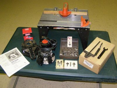 Craftsman Router, Router Table and accessories