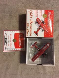 Die Cast 1931 Stearman Bi-Airplane 1998 Collectible Campbell s Soup NEW IN BOX