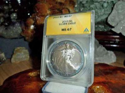 Gorgeous American Silver Eagle Dollar {2010-P ANACS MS 67}