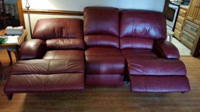 Leather electric recliner/sofa
