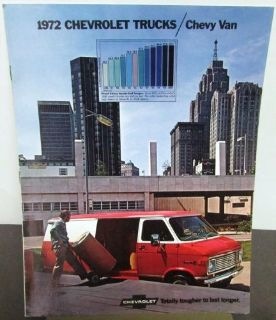Find Original 1972 Chevrolet Truck Dealer Sales Brochure Chevy Van motorcycle in Holts Summit, Missouri, United States, for US $14.72