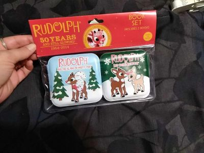 Rudolph soft books with squeak