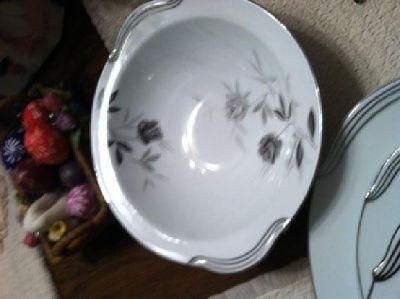 Noritake China dinnerware- 102 piece set, pattern Rosamor 5851- Japan, service f