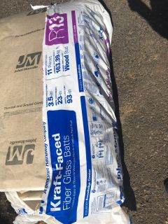 Three pieces of new insulation