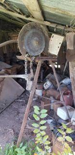 Rusty Old Cutter on Stand
