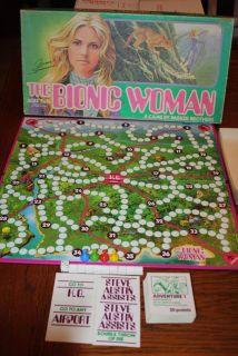 1976 Vintage Original The Bionic Woman TV Show Jamie Sommers Board Game