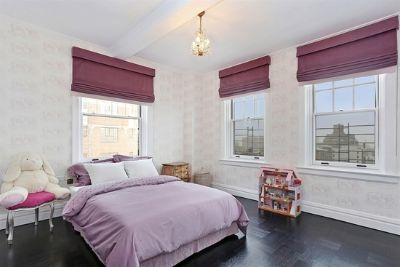 Spacious master bedroom with private bathroom & closet.