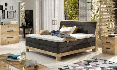 New upholstered bed with mattress