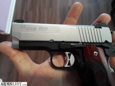 For Sale/Trade: Sig-Sauer 1911 Ultra Compact Two-Tone .45 ACP With Crimson